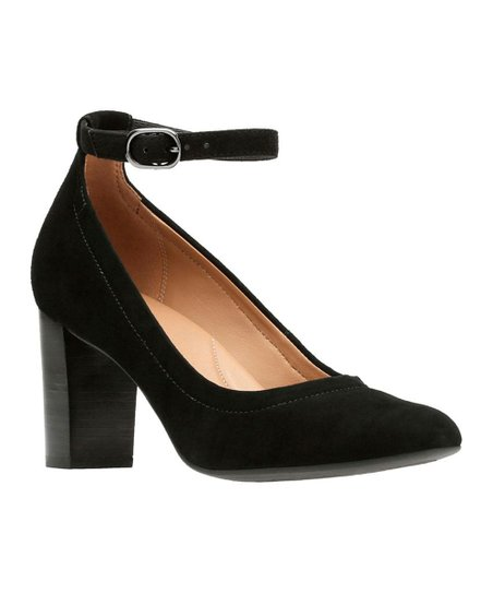 7c5b1b5e5dcdc Clarks Black Chryssa Jana Suede Ankle-Strap Shoe - Women | Zulily