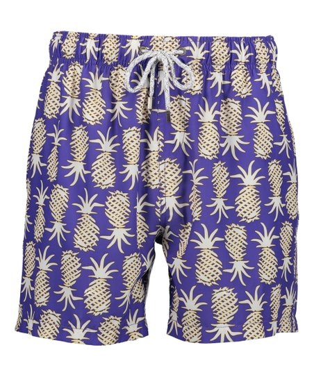 db81d4a784 Vintage Summer Periwinkle Pineapples Board Shorts - Men