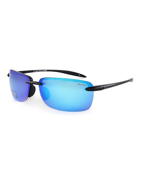 d5bf553b08 Nautica Blue   Matte Black Polarized Sport Sunglasses - Men