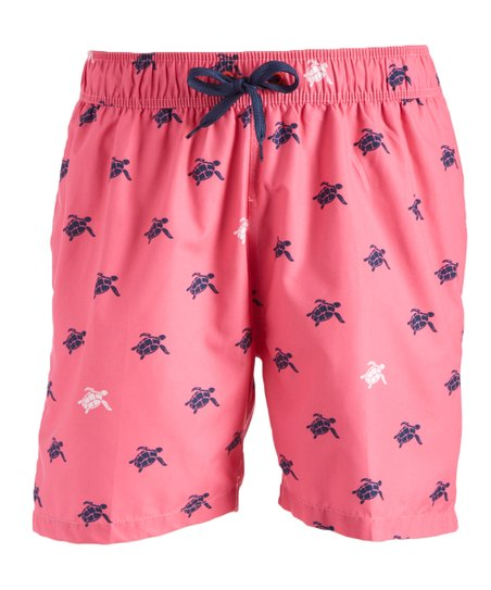 693baa70e6 Kanu Surf Pink Terrapin Turtle Swim Trunks - Men | Zulily