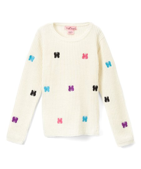 love this product Off-White Embroidered Butterfly Sweater - Girls de8d500a9