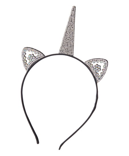 Olivia Rae Black   Silver Rhinestone Unicorn Headband  d3a4b550c1a
