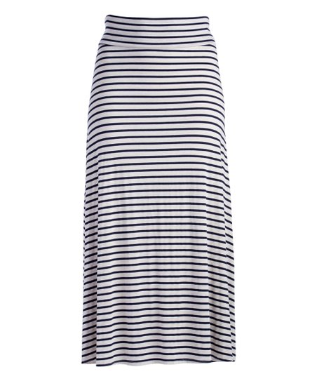 afb1d18d026 love this product Navy   Ivory Stripe Maxi Skirt - Plus