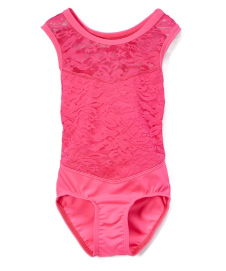 382c050735 Niva-Miche Clothes Hot Pink Lace Leotard - Girls