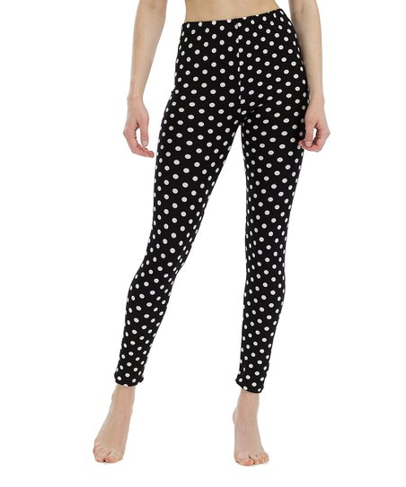 379e9343ba988 Juicy Leggings Black & White Polka Dot Leggings - Women | Zulily