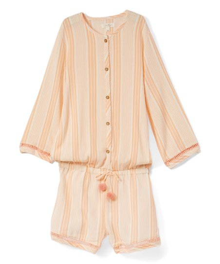 ff4d5811662a Jessica Simpson Collection Blossom Resort Stripe Angel-Sleeve Romper ...