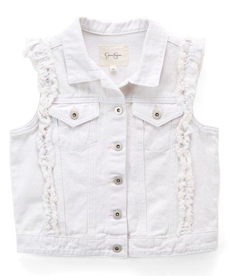 6610b3e06a Jessica Simpson Collection White Pixie Denim Vest - Girls | Zulily