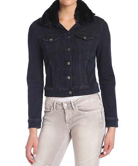 90b7ef5a4876 Mavi Ink Faux Fur-Collar Samantha Jean Jacket