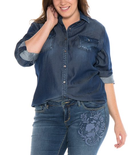 d3ec80a184 love this product Blue Sally Button-Up - Women   Plus