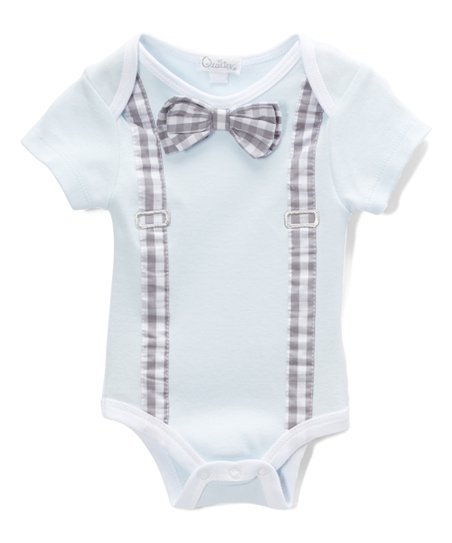 dc89dffef love this product Blue Bow Tie Bodysuit - Infant