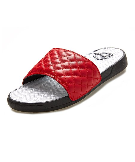 love this product Red   White Quilted Waves Gel Slide - Women 74c41a722a