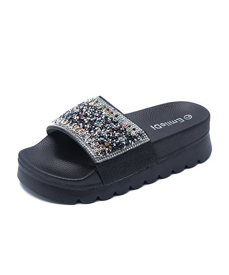 81b49c838dad2d Emile Di Black Beaded Platform Slide - Women