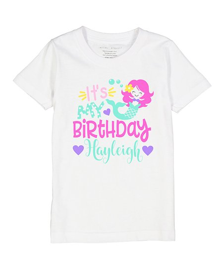 Love This Product White Its My Birthday Mermaid Personalized Short Sleeve Tee
