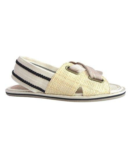 de546dbda love this product Natural Stripe-Contrast Ali Sandal - Women