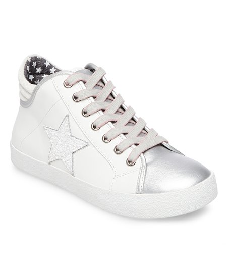 662717091ccac love this product White   Silver Savior Leather Sneaker - Women