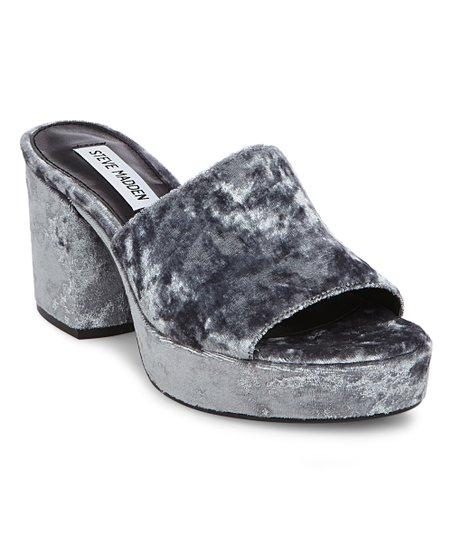 8e5f94a37c1 Steve Madden Blue Relax Velvet Platform Sandal - Women
