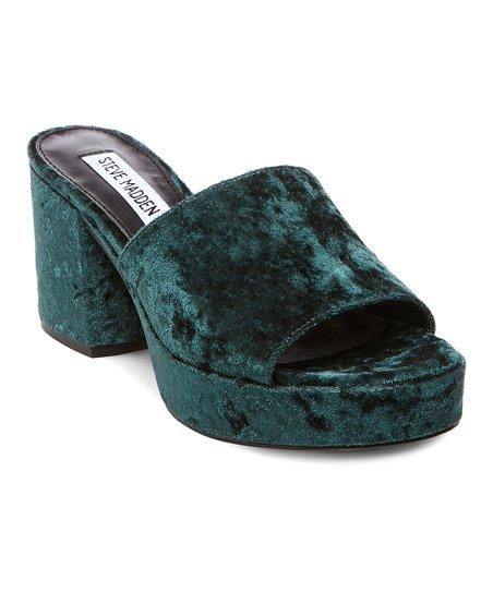 343130d12bc9 Steve Madden Green Relax Velvet Platform Sandal - Women