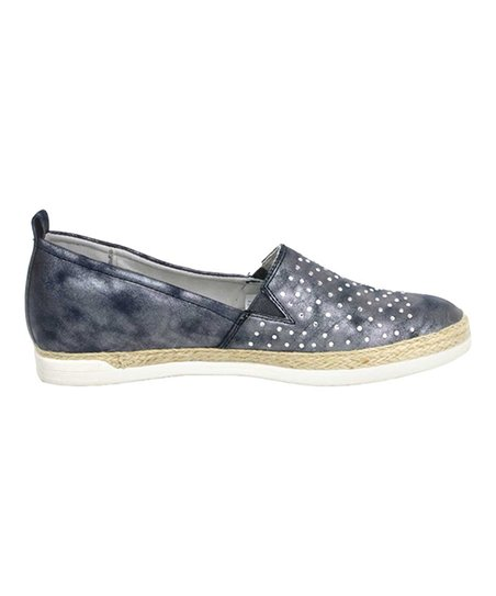 huge discount outlet on sale where to buy JENNY by ara Denim Blue Laynie Studded Sneaker - Women | Zulily