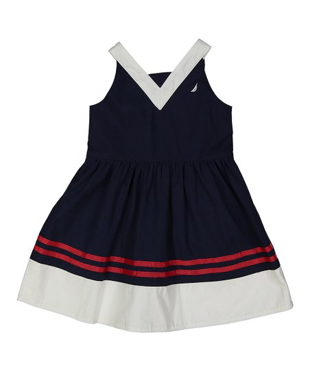 9e0d09e0c2 love this product Navy & White Color Block Sleeveless Dress - Toddler
