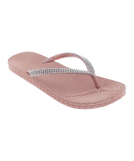 8db0afb39a7809 Capelli New York Blush Embellished-Trim Flip-Flop - Women