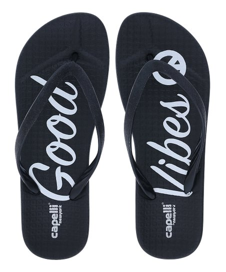 f548767e064f Capelli New York Black Glitter Good Vibes Jelly Flip-Flop - Women ...
