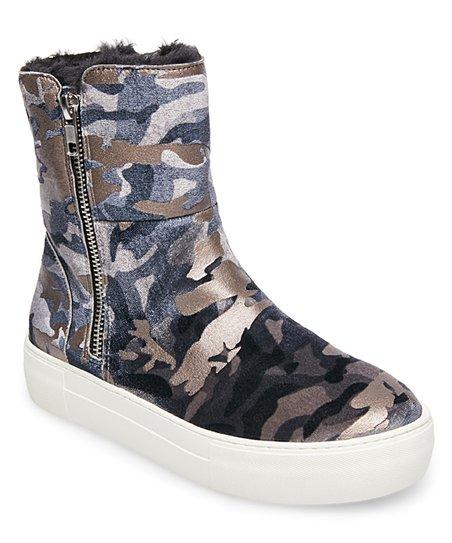 Steve Madden Camo Garrson Suede Sneaker