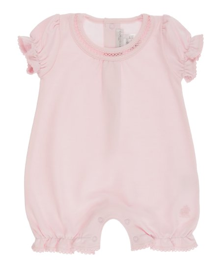 e9002cd19 babycottons Pink Ruffle-Trim Romper - Newborn & Infant | Zulily