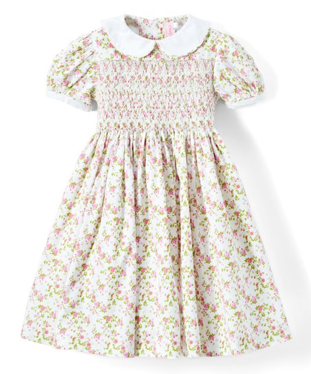 b2d83d6a1 Emily Lacey White   Pink Floral Collar A-Line Dress - Infant ...