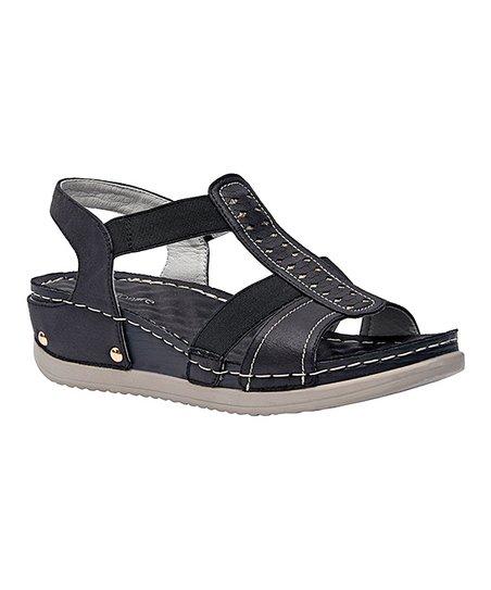 565d581ba Cushionaire Collection Black Carmen Sandal - Women