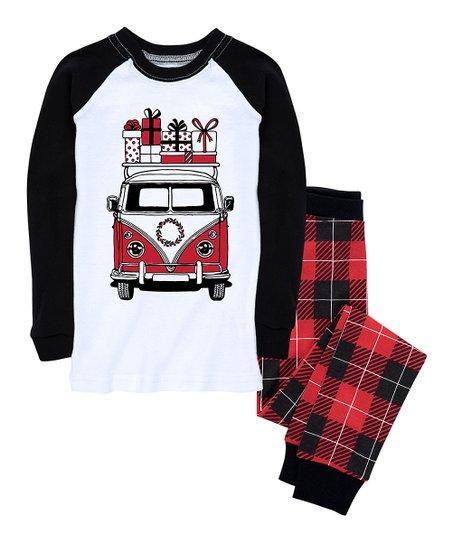 deb368f468 Nap Chat Family Red   Black Buffalo Plaid VW Van Pajama Set - Infant ...