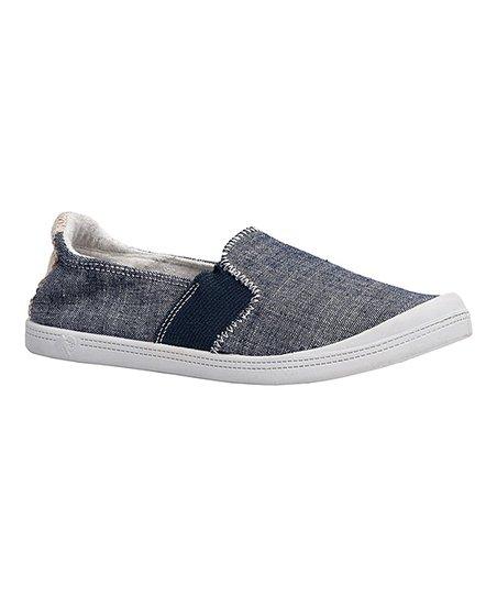 Dunes Blue Neesa Canvas Slip-On Sneaker