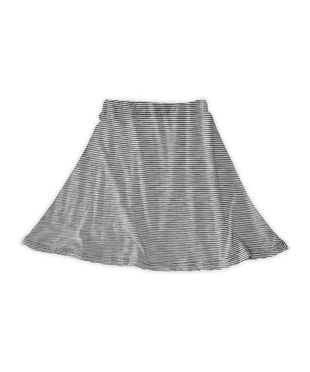 dfc96701bf love this product Gray & Black Narrow Stripe A-Line Skirt - Toddler & Girls