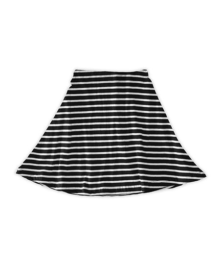 7dbcd1dc71 love this product Black & White Stripe A-Line Skirt - Toddler & Girls