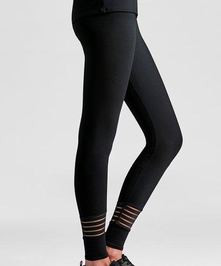 2cbb2778f9cb6 love this product Black Mesh Stripe-Accent Leggings - Women