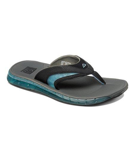 9a6f615c18287 Reef Charcoal   Blue Boster Flip-Flop - Men