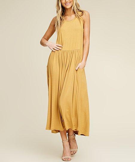 fbe89a7a9c15 Annabelle USA Bronze Side-Pocket Drop-Waist Dress - Women | Zulily