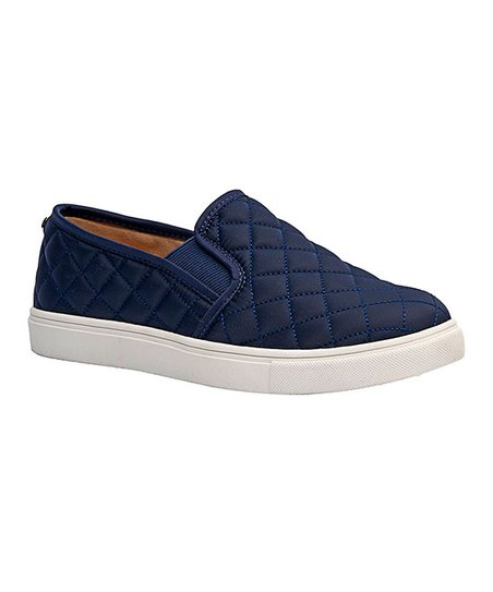 Dunes Navy Reed Slip-On Sneaker - Women