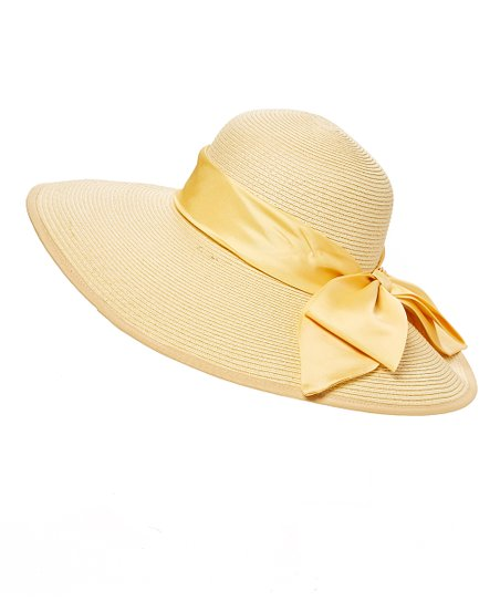Something Special Natural Satin Bow-Accent Floppy Hat  c838b2c3d8a