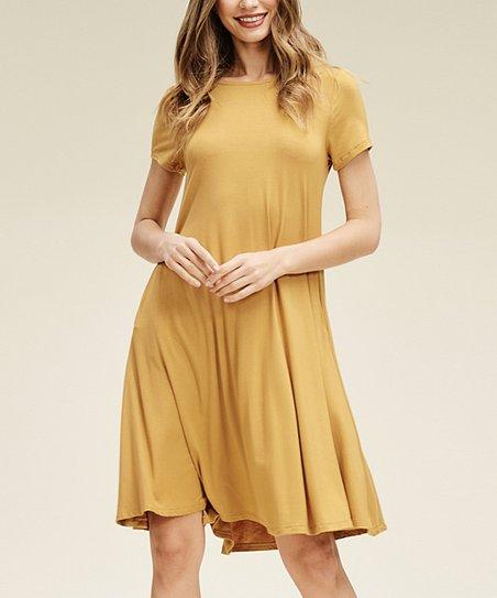 7089110f49c4 Annabelle USA Bronze Pocket Shift Dress - Women & Plus | Zulily