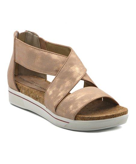 a3eead2ef71 Adrienne Vittadini® Rose Gold Metallic Claud Sandal - Women