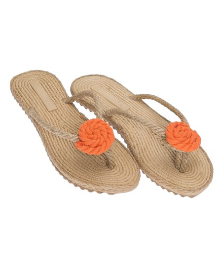5f61a8a3b1aa Gio mi orange rope flip flop women zulily jpg 452x543 Rope flip flops