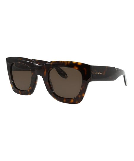 076d475add98 Givenchy Dark Havana & Brown Square Sunglasses   Zulily