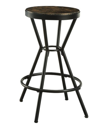 Strange Serendipity Black Industrial Wood Stool Set Of Two Zulily Theyellowbook Wood Chair Design Ideas Theyellowbookinfo