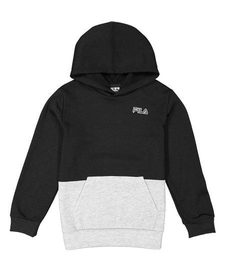 4b61570a34b3 FILA Black & White Color Block Core Hoodie - Boys | Zulily