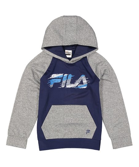 Love This Product Navy Heather Gray Color Block Hoo Boys