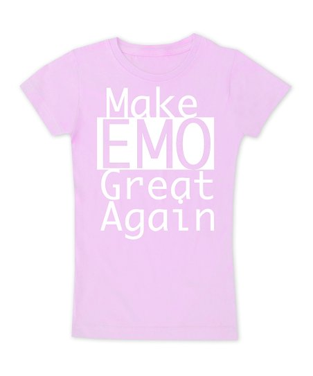 62401202d Micro Me Light Pink Make Emo Great Again Fitted Tee - Toddler ...