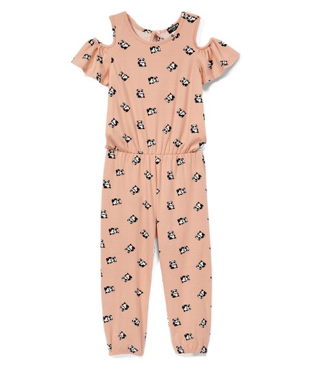 52b8b89df1ab XOXO Blush   White Panda Cutout Jumpsuit - Girls