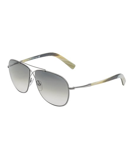 b48ab0209251 love this product Silver Horn   Blue Gradient April Sunglasses