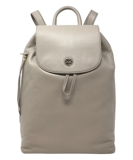5cec54f6b46b Tory Burch French Gray Brody Pebbled Leather Backpack