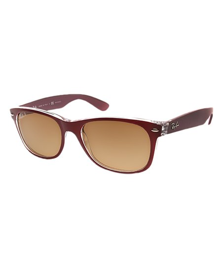 f79902a288aec Ray-Ban Burgundy   Yellow Polarized New Wayfarer Sunglasses - Women ...